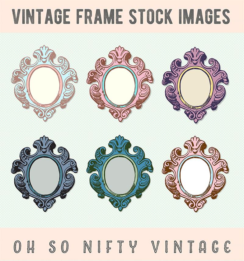 Stock Images | Colored Vintage Frames