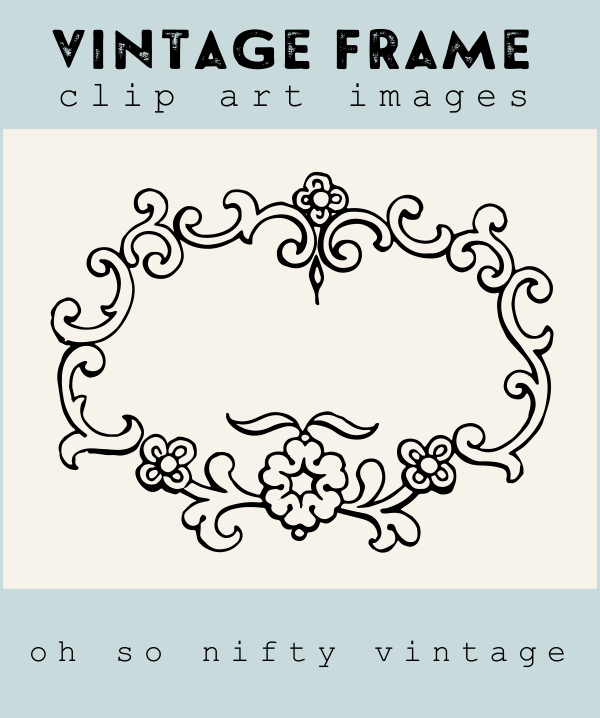 Royalty Free Images | Vintage Frame Graphic | Oh So Nifty Vintage ...