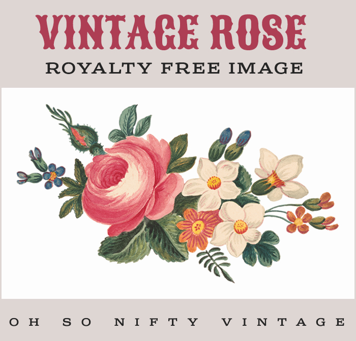 Vintage Rose Royalty Free Image No. 3