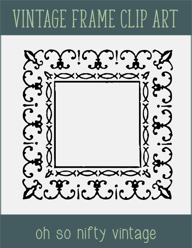 Ornate Grunge Frame Clip Art