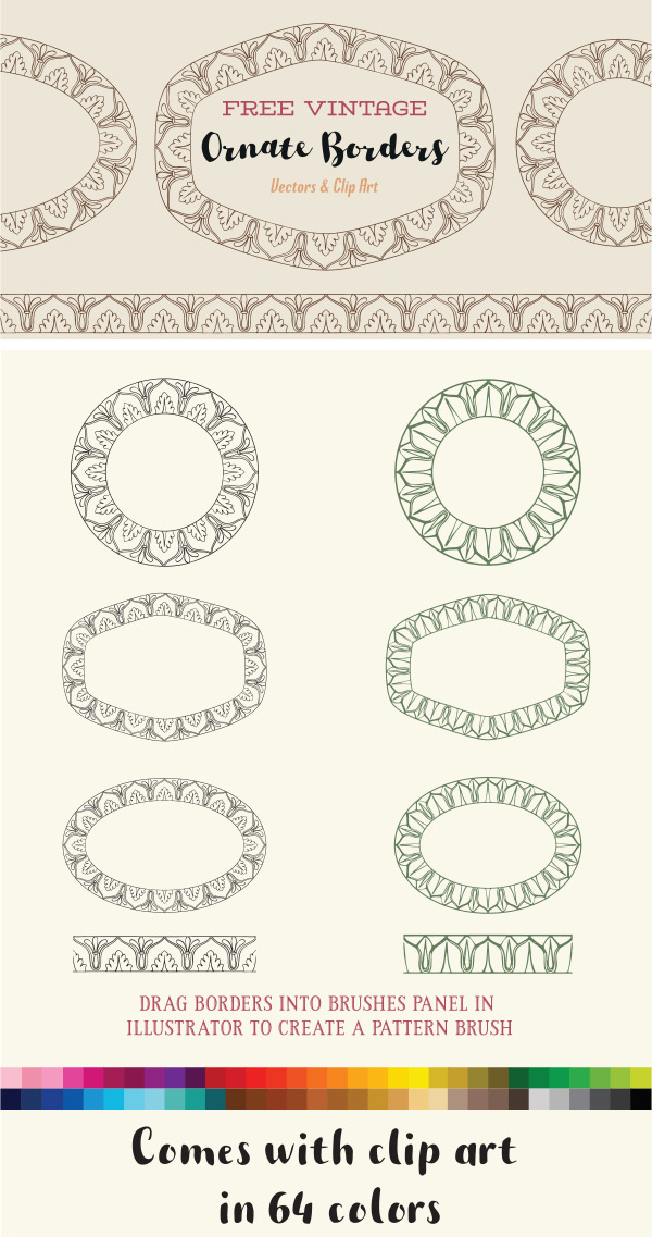 Royalty Free Clipart | Ornate Vintage Borders