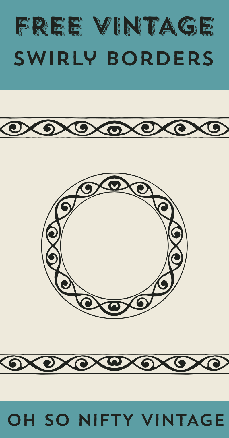 Royalty Free Clipart | Vintage Swirly Borders