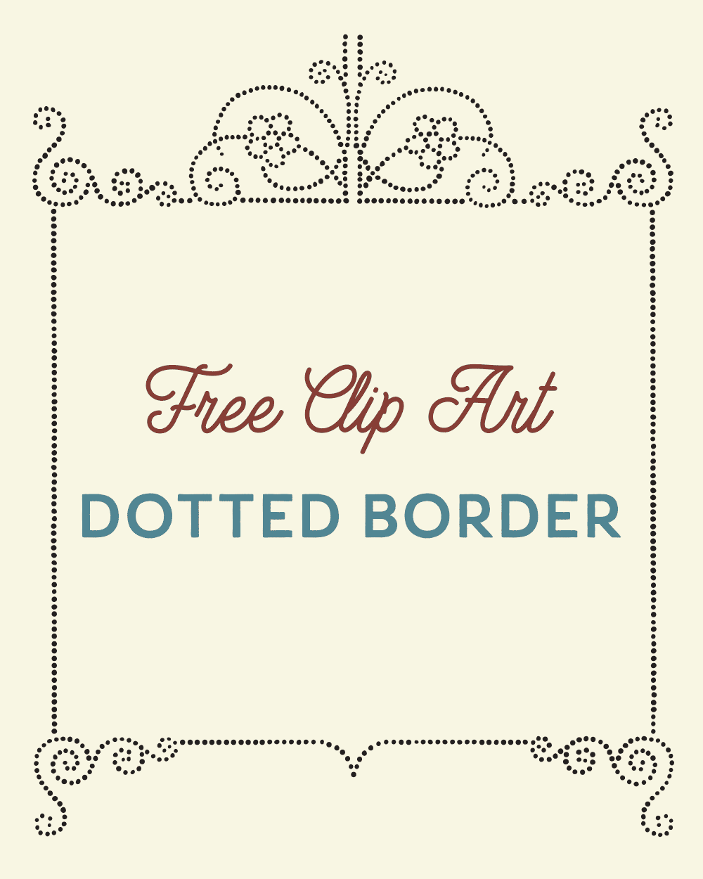 Royalty Free Clipart | Vintage Dotted Border