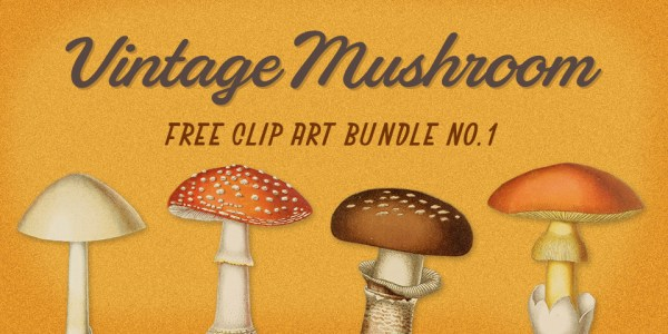 Royalty Free Images | Vintage Mushroom Bundle No. 2
