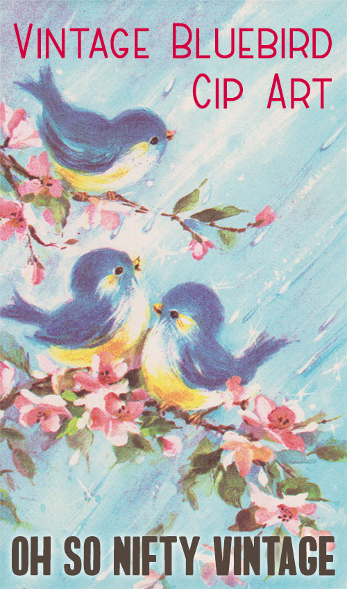 Vintage Bluebird Clip Art