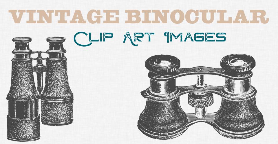 Vintage Binoculars Clip Art Images