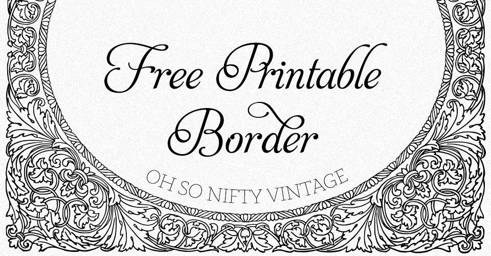 Free Printable Border | Ornate Flourish Design