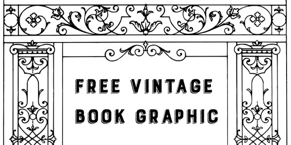 Free Vintage Book Border Graphic