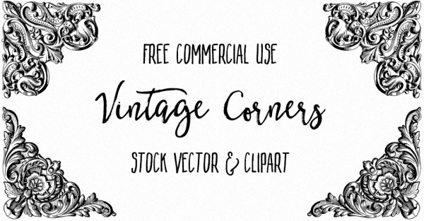Ornate Vintage Corners Vector