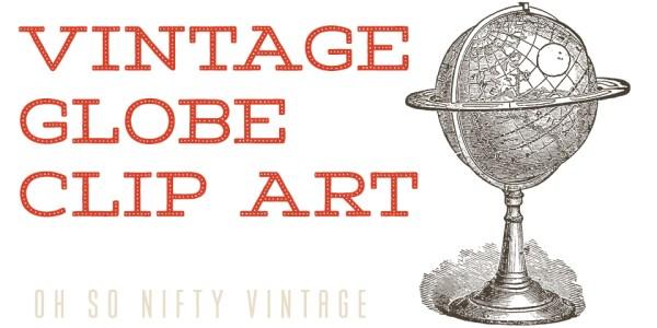 Vintage Globe Clip Art
