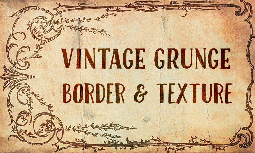 Vintage Grungy Isolated Border & Texture