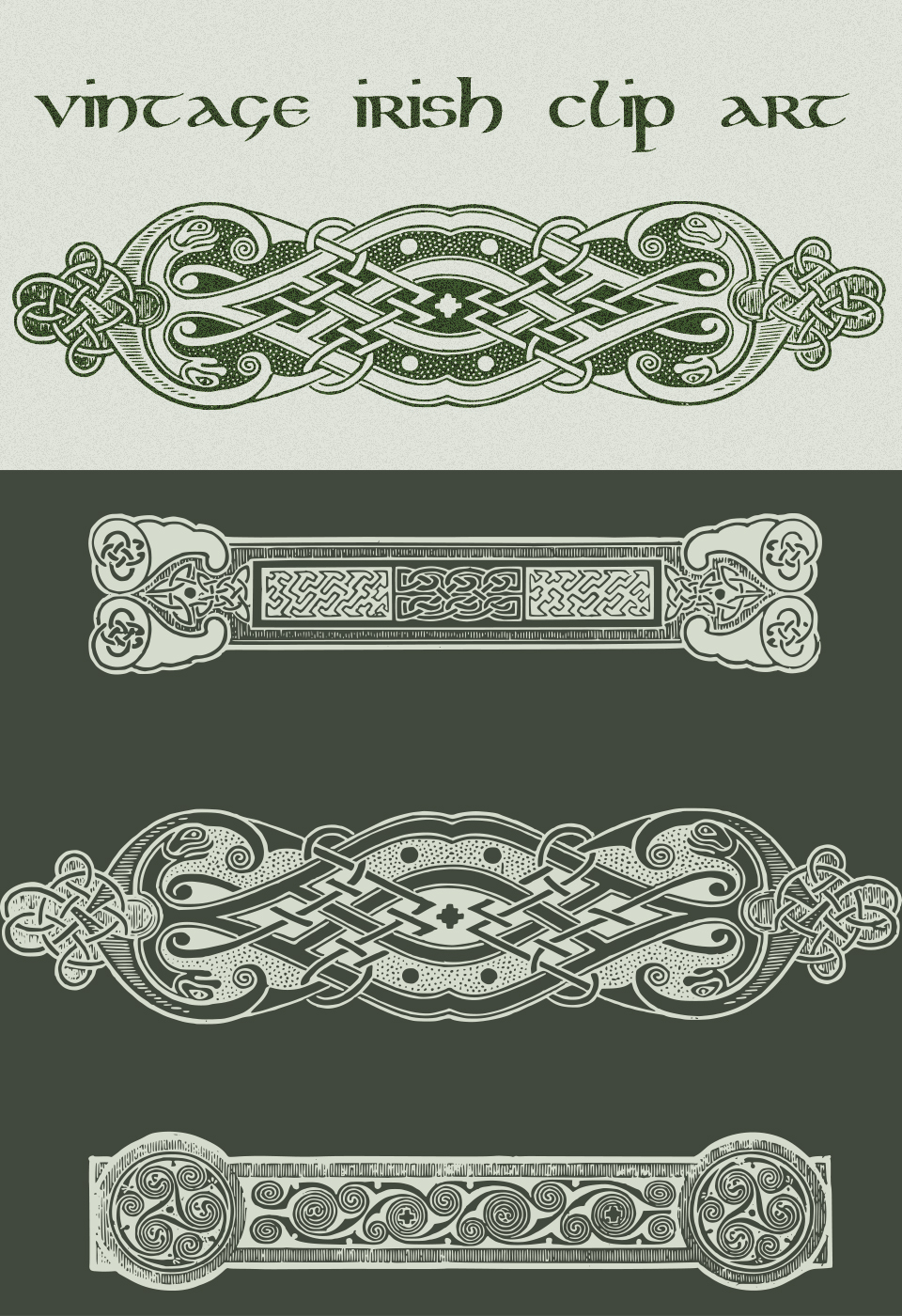 Vintage Irish Clip Art