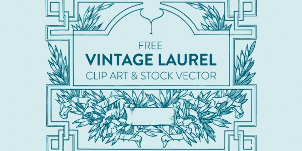 Free Vintage Laurel Scroll Frame Clip Art & Stock Vector
