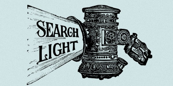 Vintage Search Light Vector Clip Art