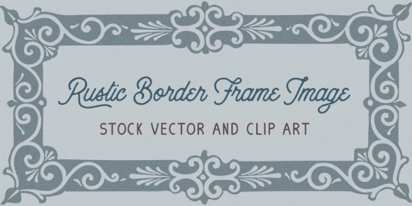 Beautiful Rustic Frame Vector