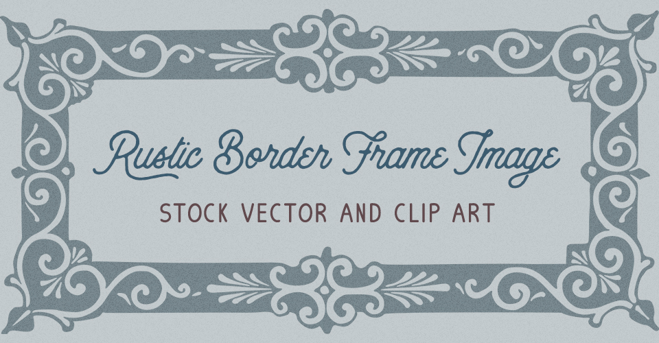 Beautiful Rustic Frame Vector