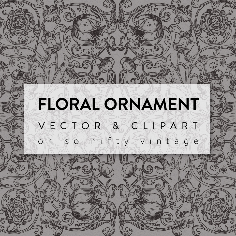 Stunning Floral Ornament Vector Clip Art