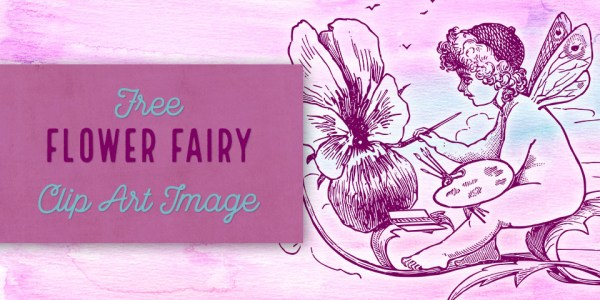 Adorable Flower Fairy Vector Clip Art