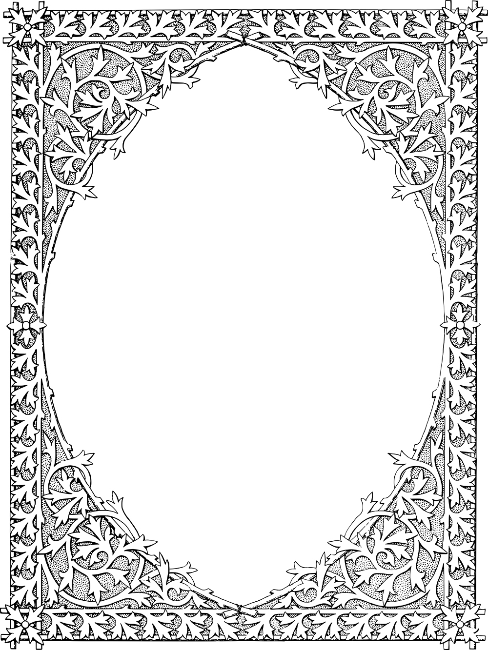 Magnificent Vintage Gothic Frame Border
