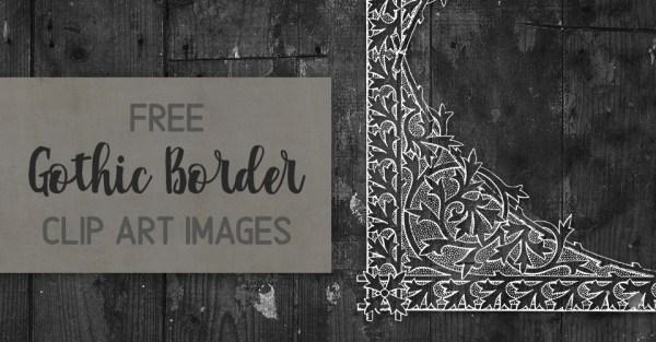 Magnificent Vintage Gothic Frame Border