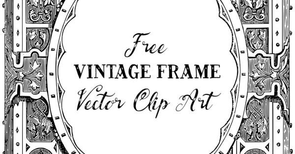 Stunning Ornate Vintage Frame Vector Clip Art