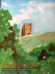 Glastonbury Tor (watercolour)