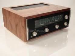 McIntosh MR73 Tuner in Walnut L52 replica case left top