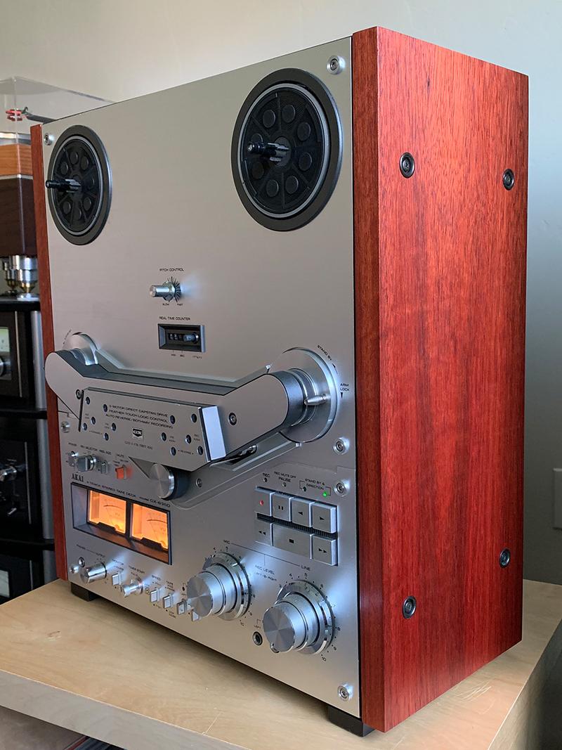 Akai GX-635D with custom side panels