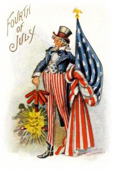 Free Patriotic Vintage July 4th Clip Art Vintage Holiday