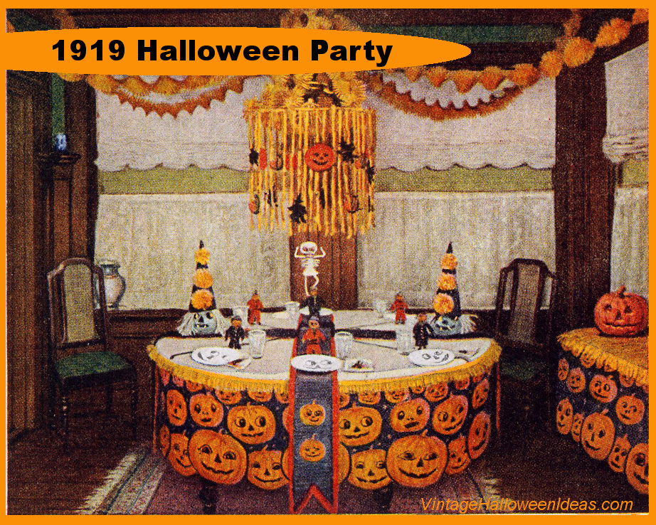 Halloween Party Decorating Ideas from 1919 \u2013 Vintage