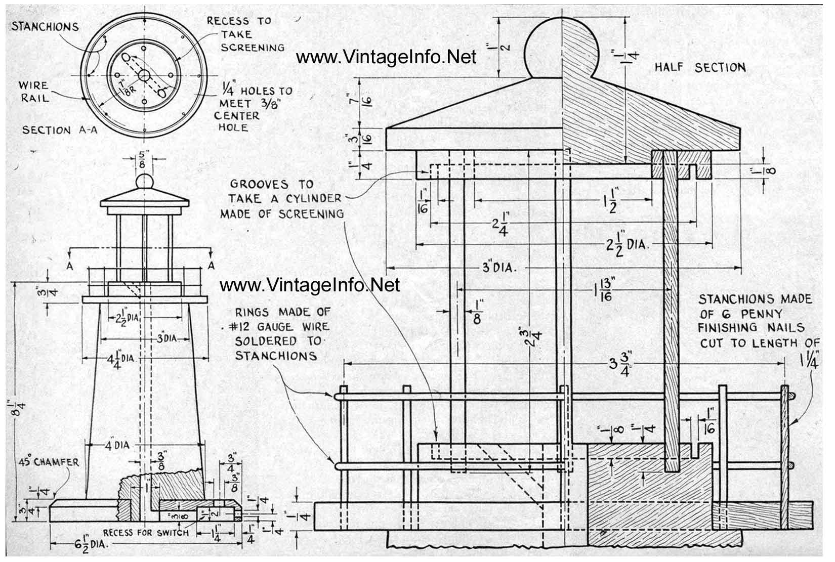 free lighthouse plans woodworking - Amish Lighthouse Plans