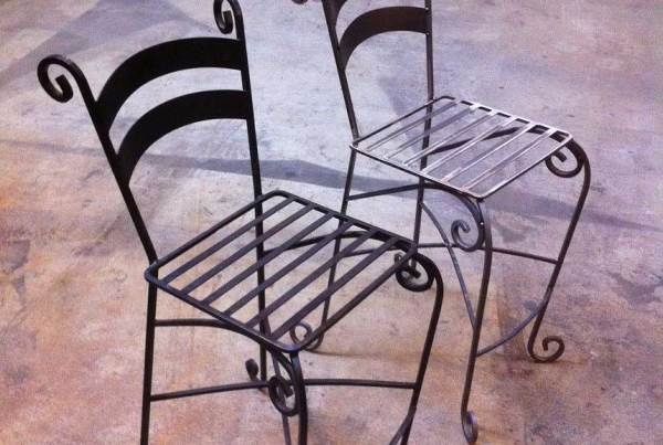 Curled Iron Chairs