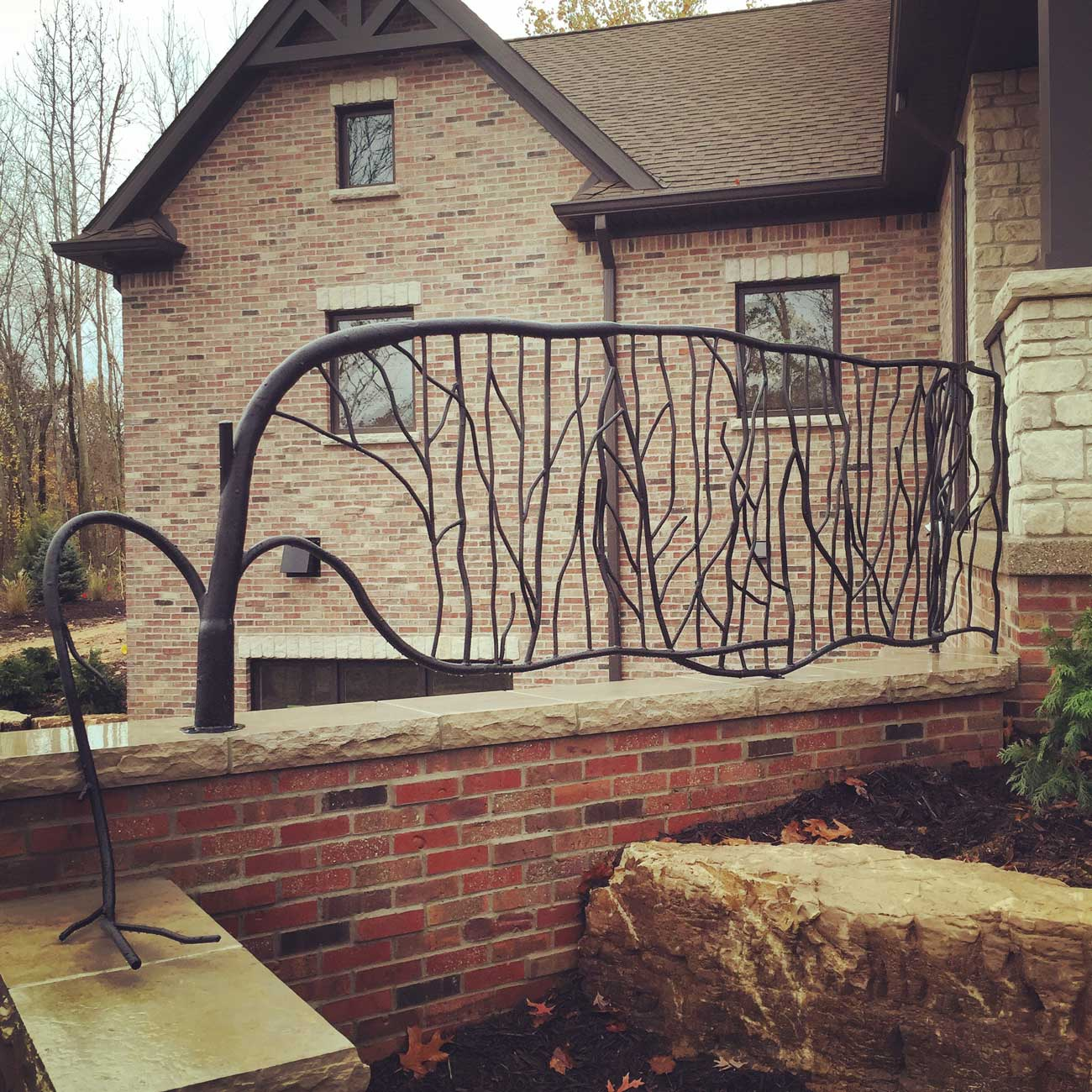 decorative balcony rail