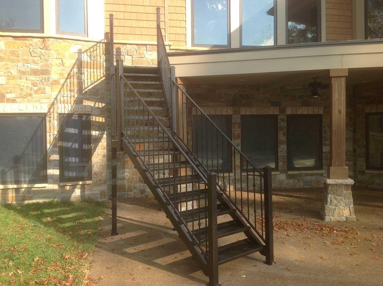 outdoor metal stairway