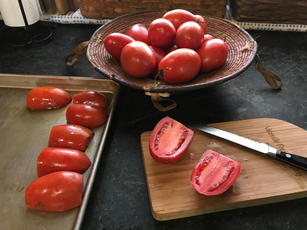 Roasted Tomato Sauce prep