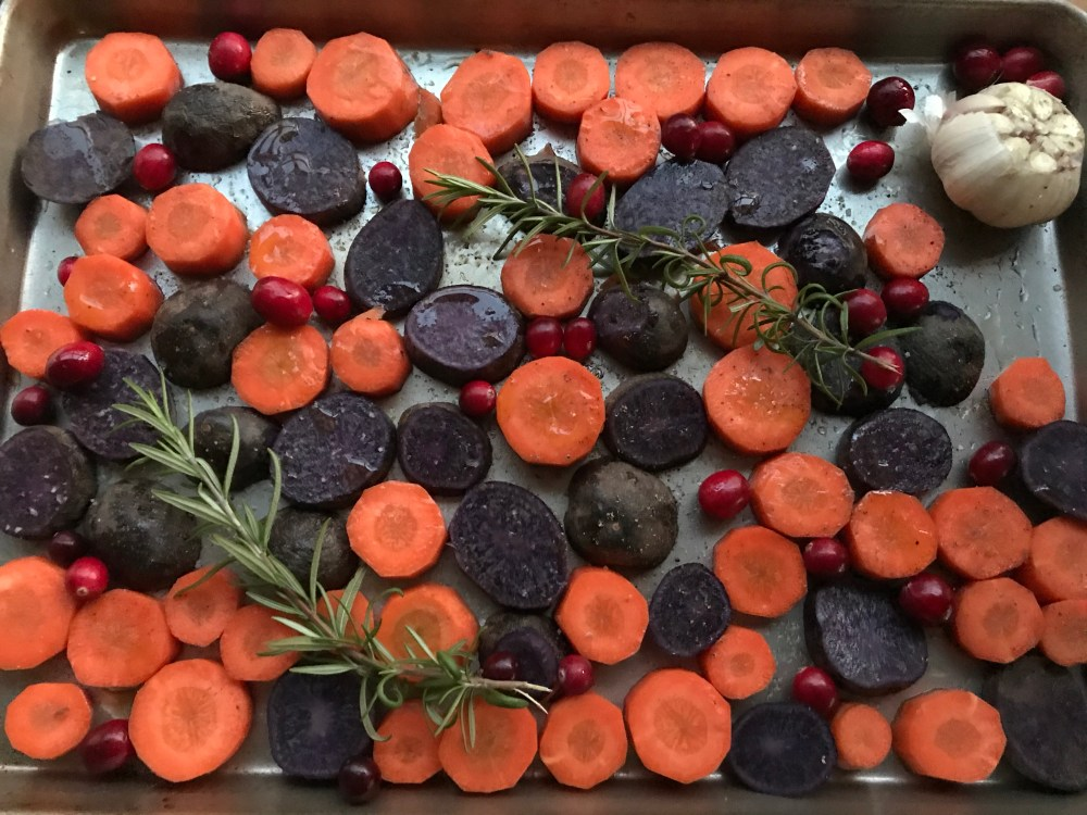 Carrots and potatoes ready to cook
