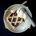 Inspired by classic linzer torte, this Mulberry Tart evokes the simplicity of days gone by. It's fruity, sweet, buttery and heaven with vanilla ice cream.   vintagekitty.com