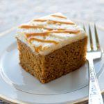 Piece of Pumpkin Beer Cake