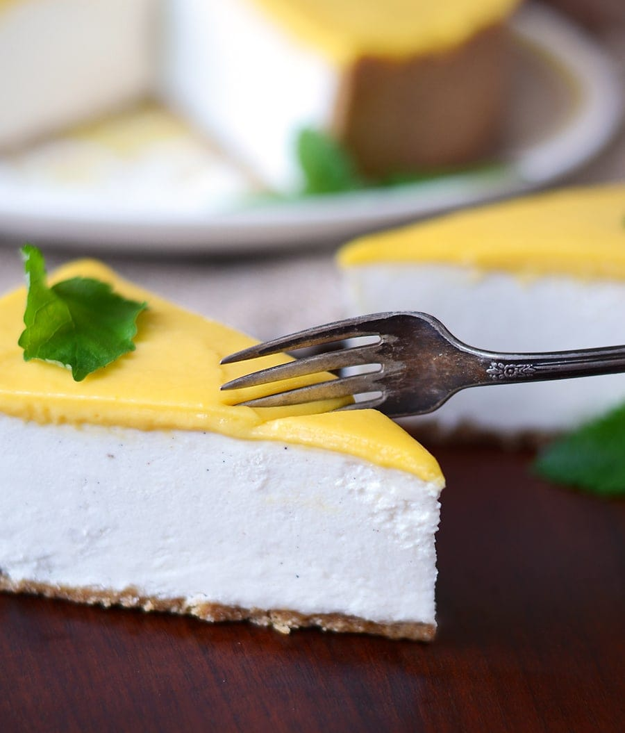 mango lassi no bake cheesecake