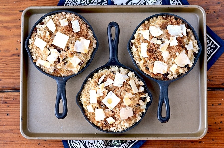 "This Rum Raisin Apple Brown Betty revives the American classic ""Brown Betty"" dessert. Inspired by history, this thrifty and simple dessert recipe is sure to please in any era."