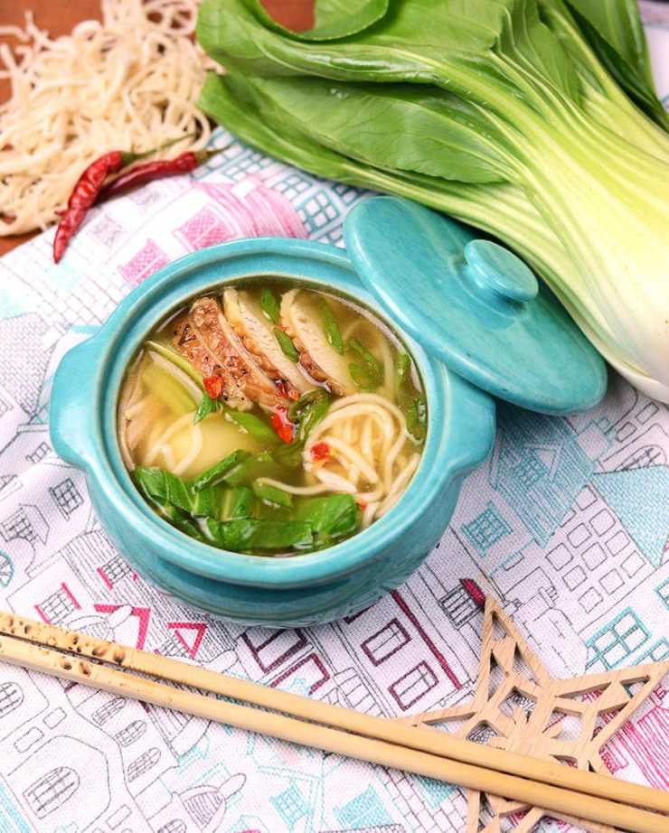 This homemade Chinese Noodle Soup makes use of chicken leftovers or a rotisserie chicken, so you have time to enjoy the pleasure of handmade noodles!