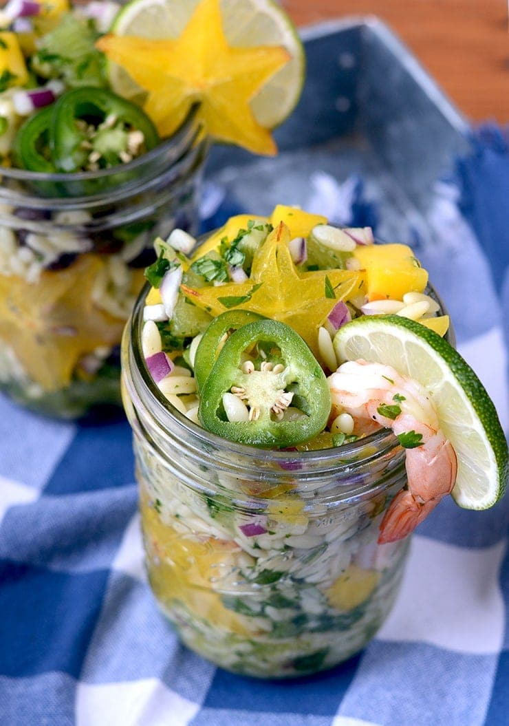 Orzo Salad with Starfruit Salsa