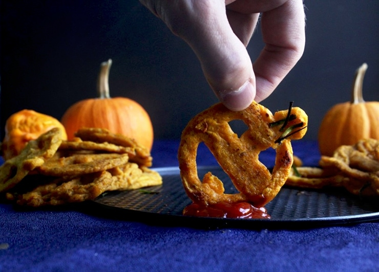 Jack-o-Lantern Fries- Ghoulishly Good! #Halloween Party Recipes and Ideas