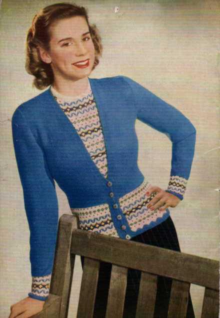 Twinsets FairIsle Free Vintage Pattern