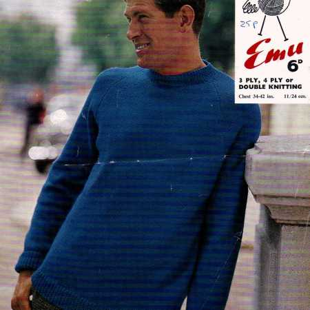 Raglan Sleeves Vintage Knitting Pattern Archive