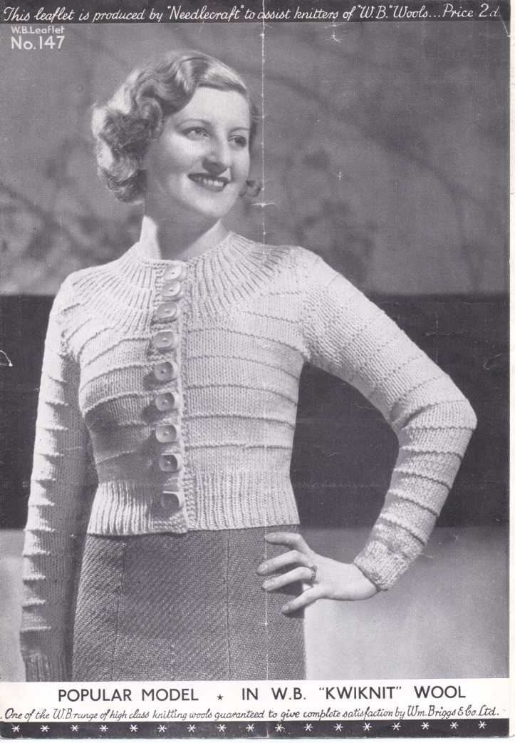 30s ladies yoke cardigan