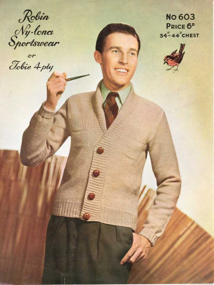 Men's shawl caridgan 50s