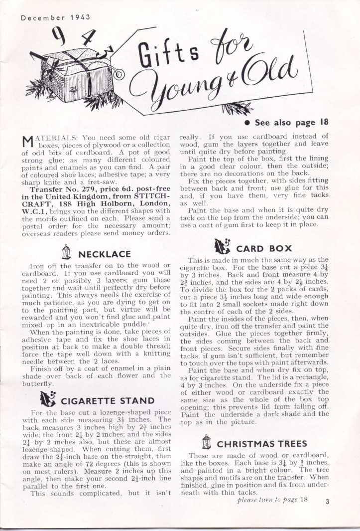 Stitchcraft Dec 19432