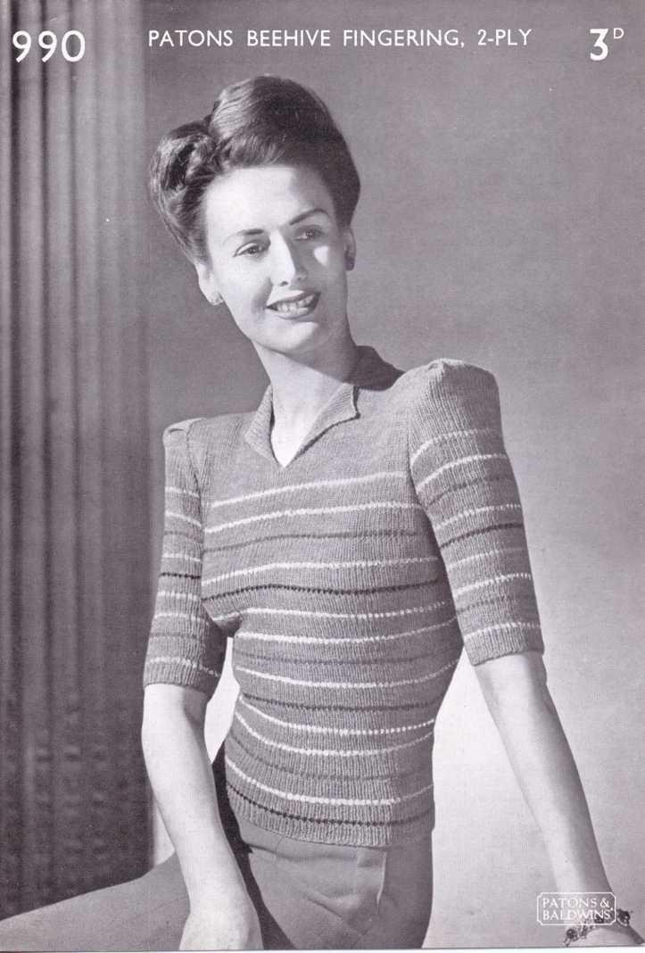 stripe jumper free knitting pattern