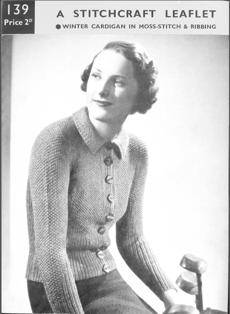 Stitchcraft 139 free vintage knitting pattern 30s thirties